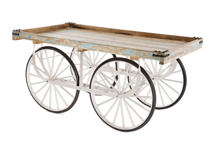 Marktwagen Vintage Weiss